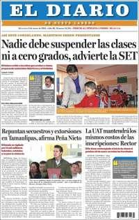 Portada de El Diario de Nuevo Laredo (México)