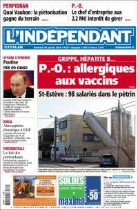 Portada de Le Indépendant (Francia)
