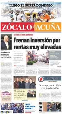 Portada de Zócalo - Cd. Acuña (México)
