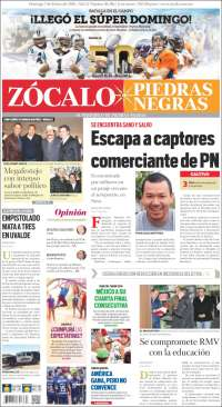 Portada de Zócalo - Piedras Negras (México)