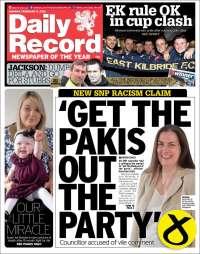 Portada de Daily Record (Reino Unido)