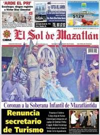 Portada de El Sol de Mazatlán (México)