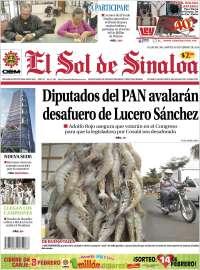 Portada de El Sol de Sinaloa (México)