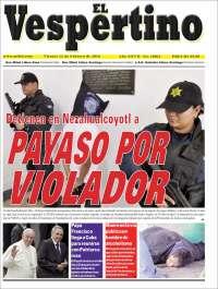 Portada de El Vespertino (México)