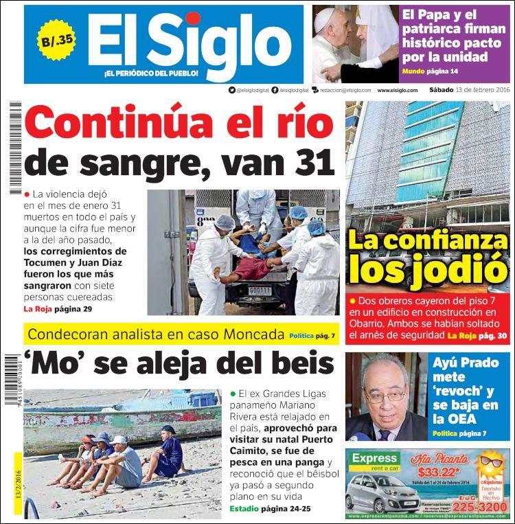 Newspaper El Siglo Panama Newspapers In Panama Saturdays