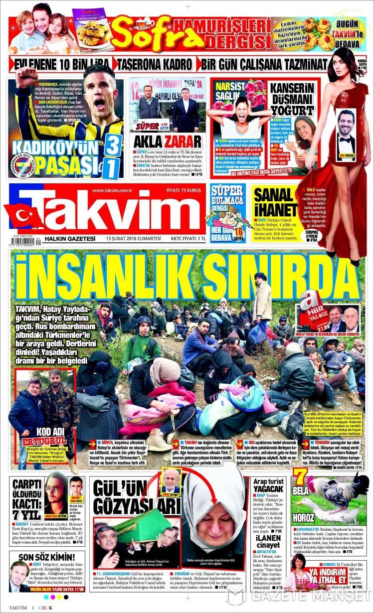 Portada de Takvim (Turkey)