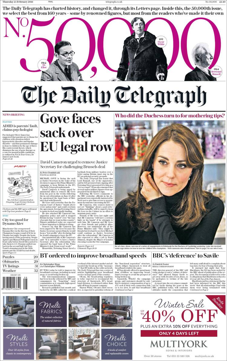 Opinion  Telegraph