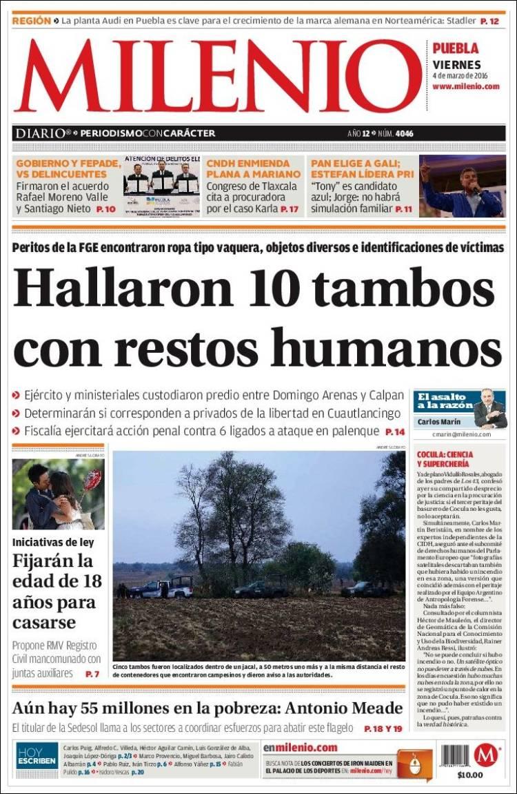 Peri Dico Milenio De Puebla M Xico Peri Dicos De M Xico