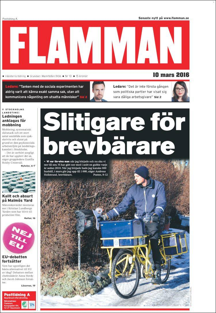 Portada de Flamman (Sweden)
