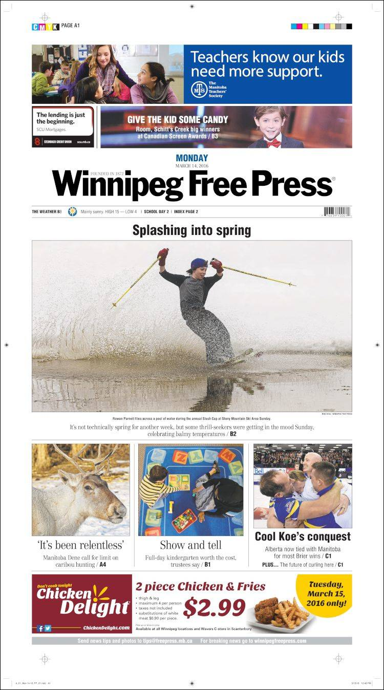 how to cancel winnipeg free press