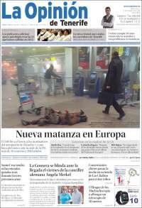Portada de La Opinión de Tenerife (España)