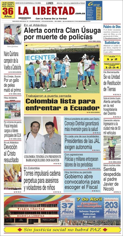 Portada de La Libertad (Colombia)