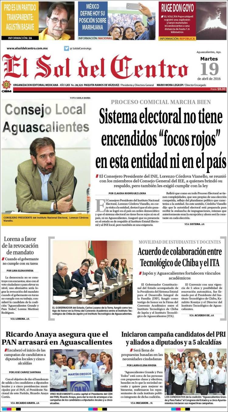 Newspaper el sol del centro mexico newspapers in mexico for Sol del centro