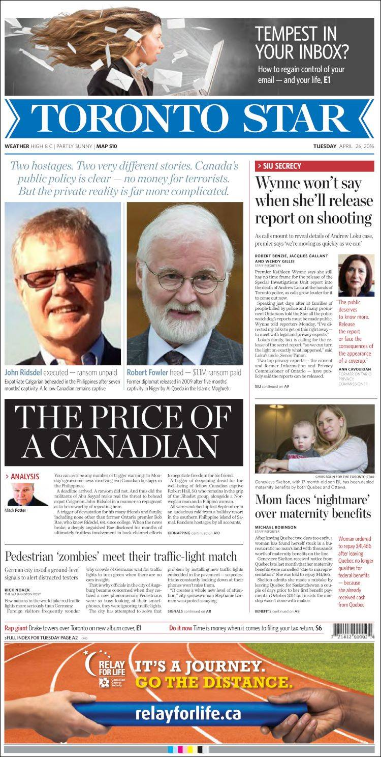 the news and newspapers in toronto Pride news, canada's leading caribbean and african news magazine, has been established since january, 1983 pride news, reflecting the ambitions, aspirations, accomplishments and achievements of the african & caribbean canadian community, is updated daily online.
