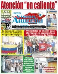 Portada de Visión Apureña (Venezuela)