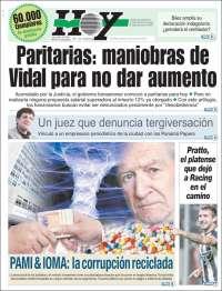 Portada de Diario Hoy (Argentina)