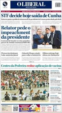 Portada de O Liberal (Brasil)