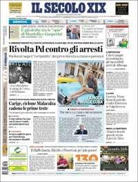Portada de Il Secolo XIX (Italia)