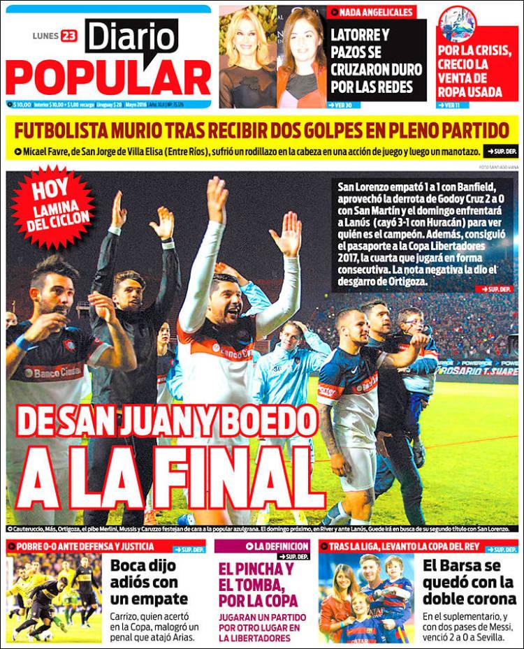 Portada de Diario Popular (Argentina)