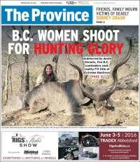 Portada de The Province (Canadá)