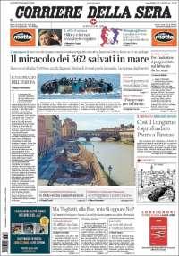 Portada de Corriere della Sera (Italy)