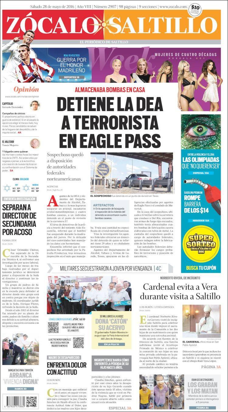 Portada de Zócalo de Saltillo (México)