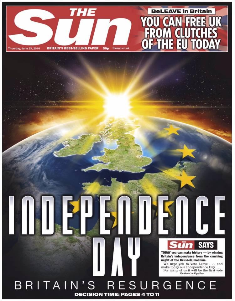 Portada De The Sun United Kingdom
