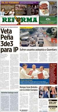 Portada de Reforma (México)
