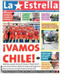 Portada de La Estrella de Loa (Chile)