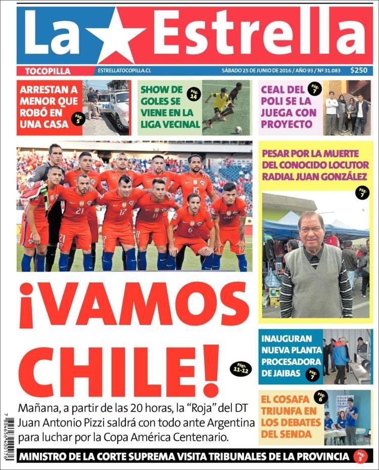 Portada de La Estrella de Tocopilla (Chile)