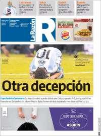 Portada de La Razón (Argentina)