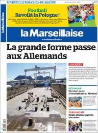 Portada de La Marseillaise (Francia)