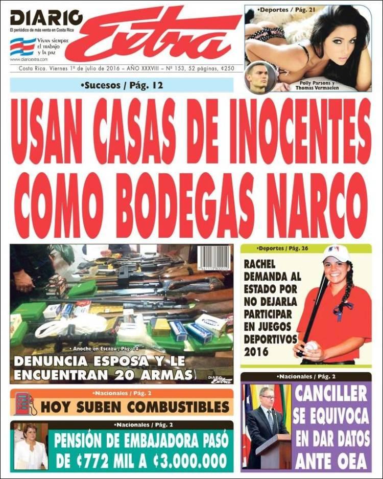 Portada de Diario Extra (Costa Rica)