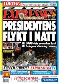 Portada de Expressen (Suecia)