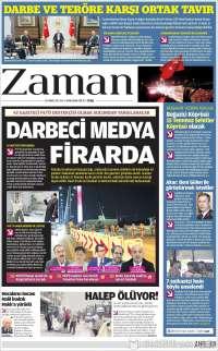 Portada de Zaman (Turkey)