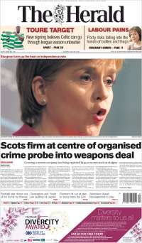 Portada de The Herald (Reino Unido)