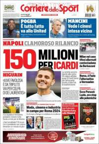 Portada de Corriere dello Sport (Italia)