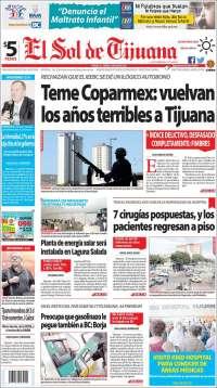 Portada de El Sol de Tijuana (México)
