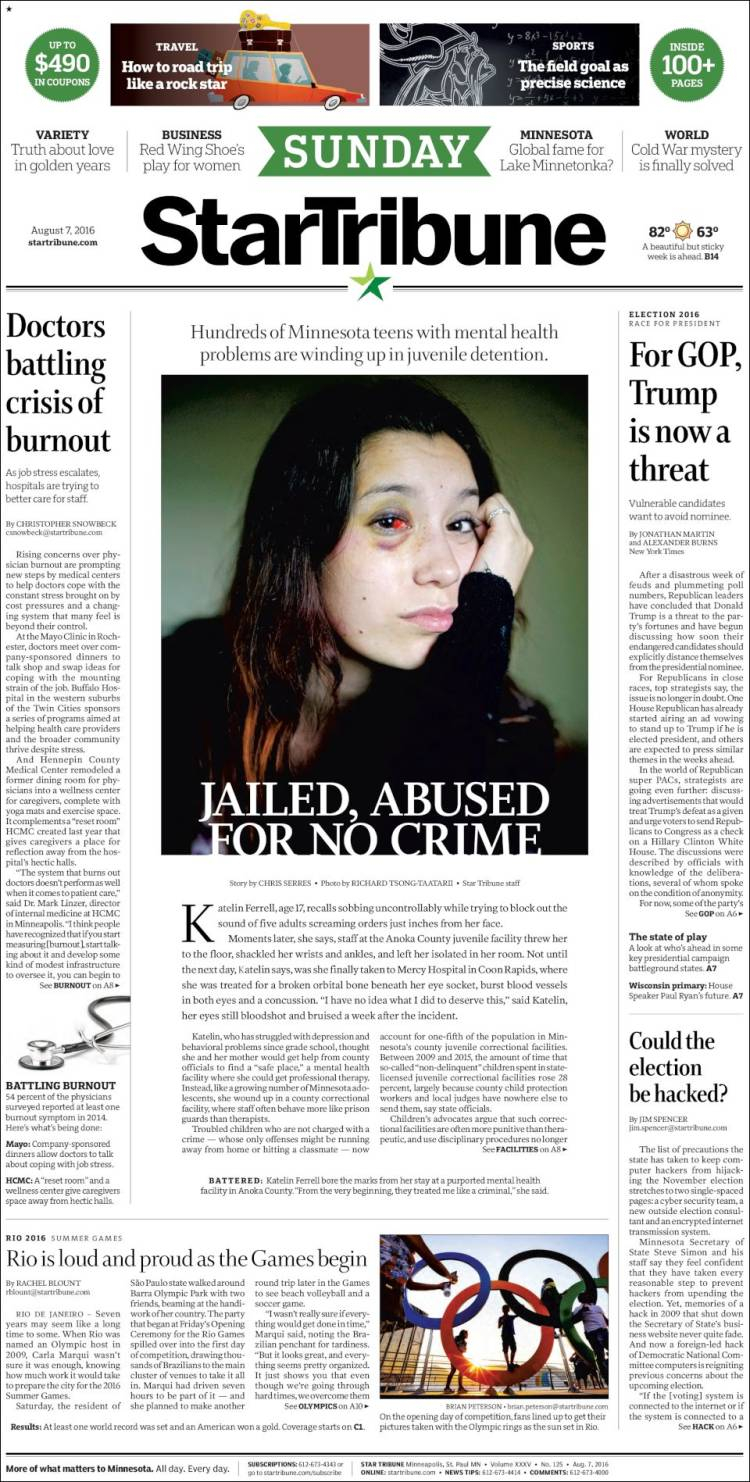 star tribune sunday paper