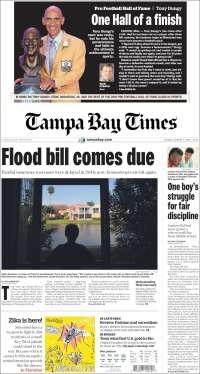 Portada de Tampa Bay Times (USA)