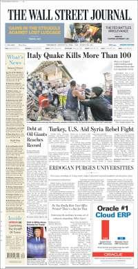 Portada de The Wall Street Journal - Europe (Europa)