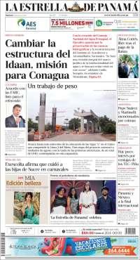 Portada de La Estrella de Panamá (Panama)