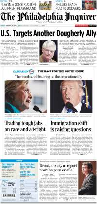 Portada de Philadelphia Inquirer (USA)