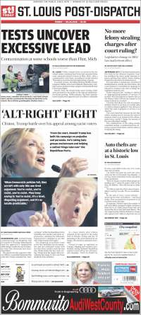 Portada de St. Louis Post-Dispatch (USA)