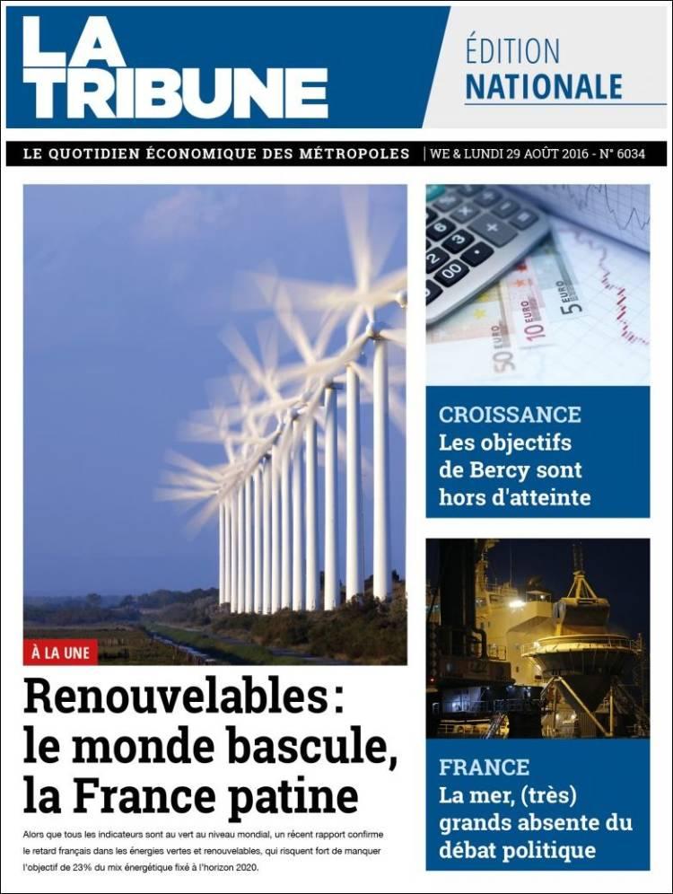Portada de La Tribune (Francia)