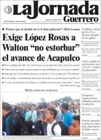 Portada de La Jornada de Guerrero (Mexico)
