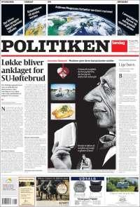 Portada de Politiken (Dinamarca)