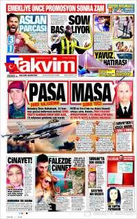 Portada de Takvim (Turquía)