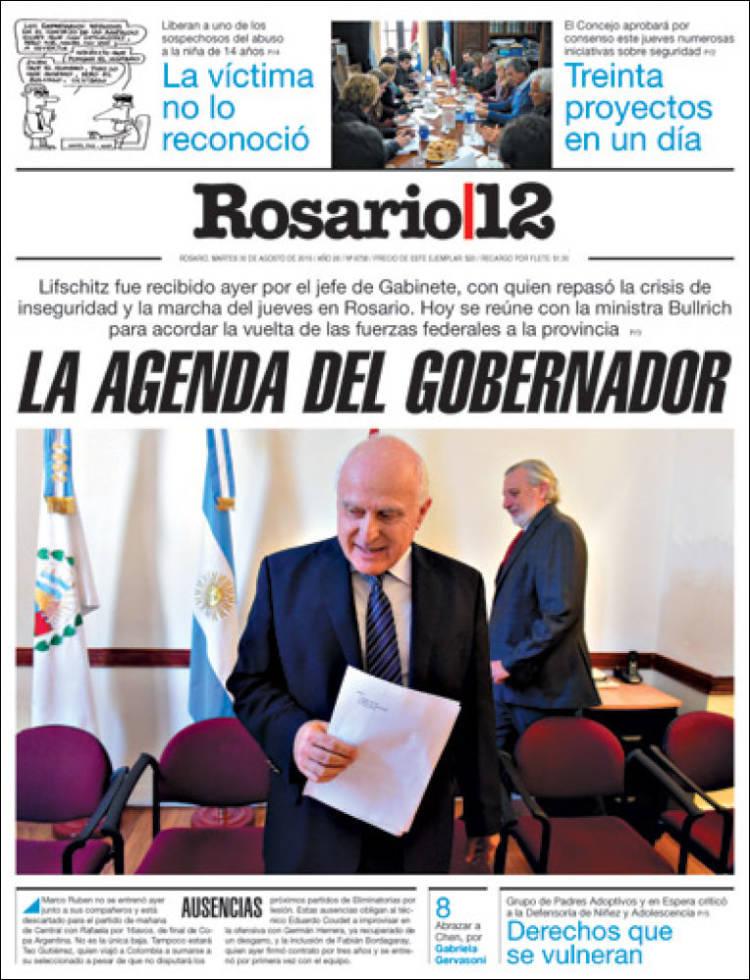 Portada de Rosario 12 (Argentina)