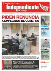 Portada de El Independiente de Hidalgo (México)